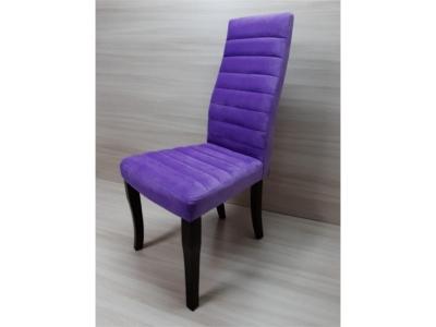 Стул массив Полоса фиолетовый