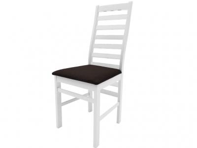 Стул Сити белый ткань Neo 3 темно-коричневый