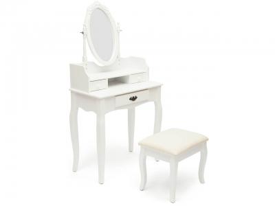 Туалетный столик с пуфом Ny-v3024 Белый