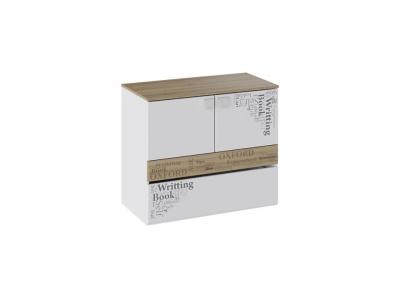 Тумба с ящиком и 2 дверями Оксфорд ТД-139.04.01 Ривьера, Белый с рисунком