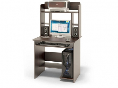 Компьютерный стол Сокол КСТ-01.1В c надстройкой Венге