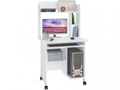 Компьютерный стол Сокол КСТ-10.1 c надстройкой Белый