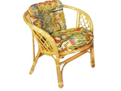 Кресло Багама мед с цветной подушкой