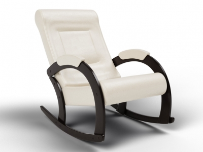 Кресло-качалка Венето экокожа крем