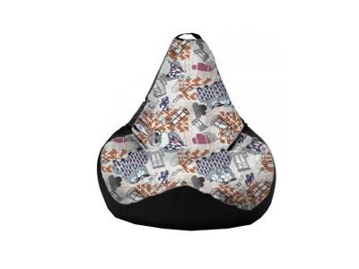 Кресло-мешок Filin Mango-Black 2 кат.