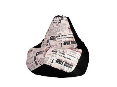 Кресло-мешок Газета-Black