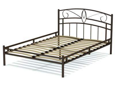 Кровать 140 Арго металлическая Венге