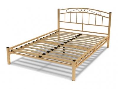 Кровать 140 Виола металлическая Крем
