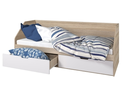 Кровать 800 2 ящика Анталия Белый