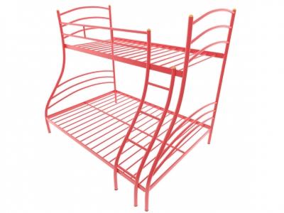 Кровать металлическая двухъярусная Глория красная