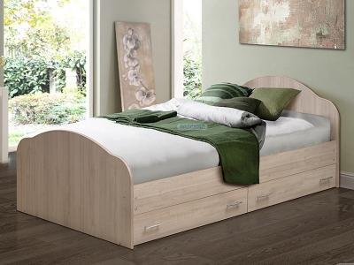Кровать на уголках №1 с ящиками Матрица