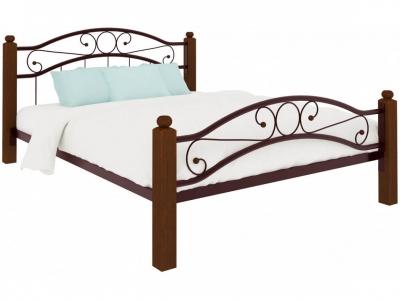 Кровать Надежда Lux plus коричневая