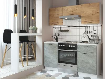 Кухня Дуся-2 1600 дуб бунратти-цемент