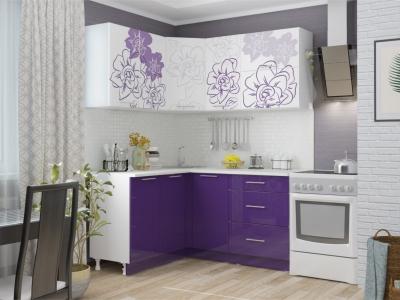 Кухня угловая Бордо Виолет