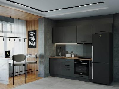 Кухонный гарнитур Антрацит-2550