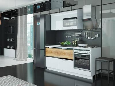 Кухонный гарнитур Фэнтези Белый универс, Вуд 1,8м