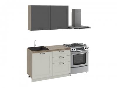 Кухонный гарнитур Одри 1,2 Серый шелк, Бежевый шелк
