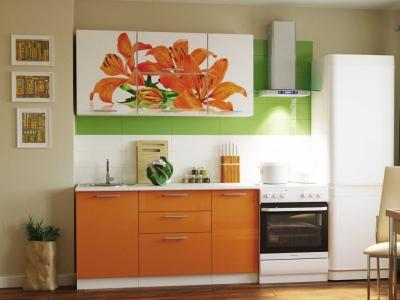 Кухонный гарнитур Риал 1500 лилия-оранж