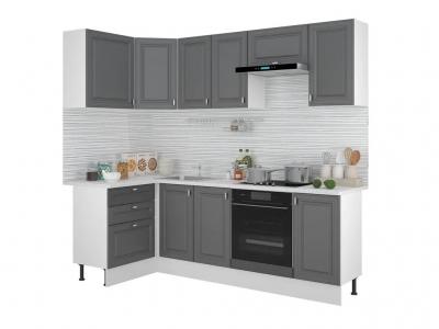 Кухонный гарнитур угловой Ева 1200х2400 Графит