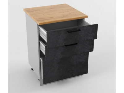 Напольный шкаф Н 600 3 ящика 850х600х600 Лофт