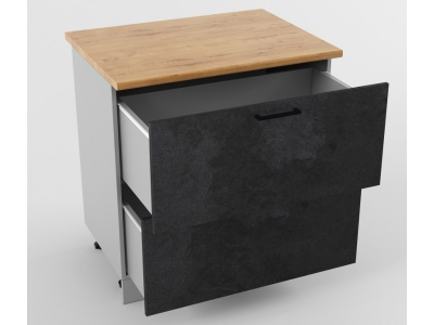 Напольный шкаф Н 800 2 ящика 850х800х600 Лофт