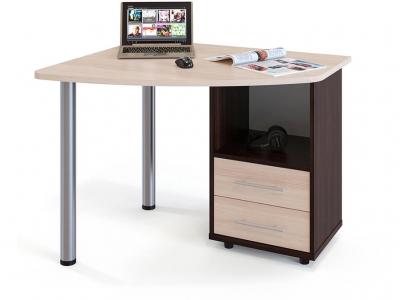 Письменный стол Сокол КСТ-102 правый Венге/Беленый дуб
