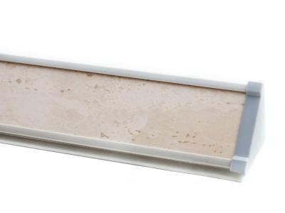 Плинтус с заглушками ПЛ 13.150 Слоновая кость 1500