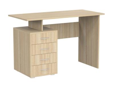 Стол письменный 4-мя ящиками Эко Дуб Сонома светлый