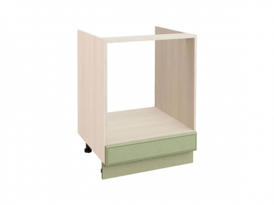 Стол под встраиваемую технику с выдвижным ящиком 72.57 Оливия Грин 600х530х820