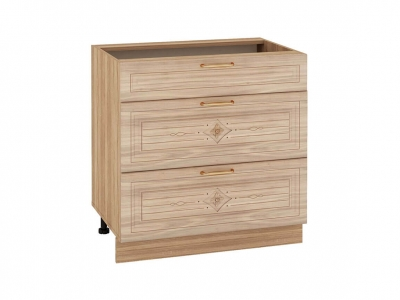 Стол с 3 ящиками - метабоксы 73.67 Шарлотта 800х530х820