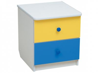 Тумба прикроватная Радуга Желтый-Синий