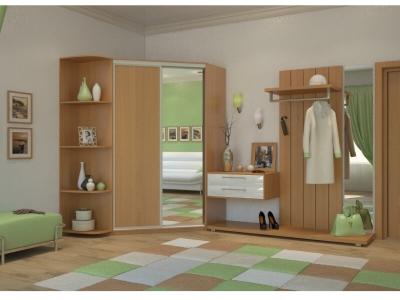 Угловой шкаф-купе Елена с угловым элементом миланский орех